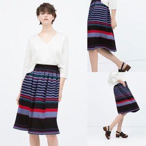 Zara midi Skirt Sz XS