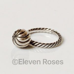 David Yurman Jewelry - David Yurman 925 Sterling Cable Ball Dangle Ring