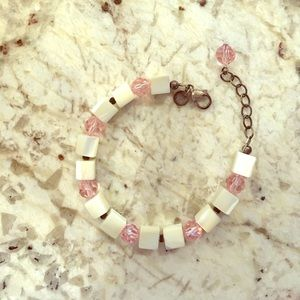 Emily Ray Jewelry - Emily Ray Pearl & Pink Bracelet
