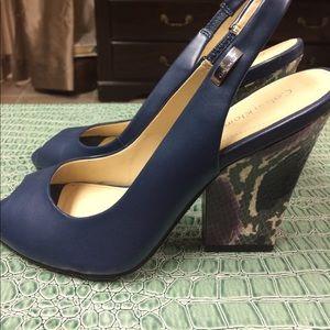 Calvin Klein Shoes - Nadia's Peep-Toe Slingbacks