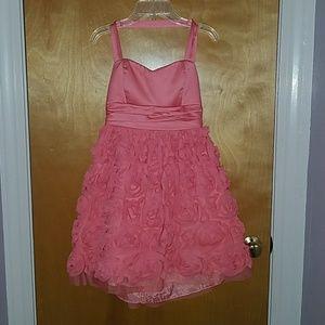 XOXO Dresses & Skirts - XOXO Corel Rosette Halter Semi Formal dress