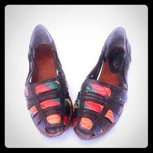Vintage 80s Huarache Sandals Huaraches Leather 7