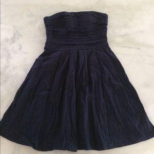 Dresses & Skirts - navy blue strapless dress