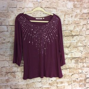 Sejour Tops - Sejour long sleeve top with sequin detail size 1x