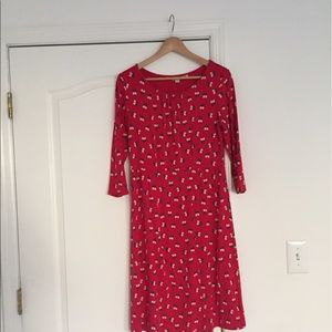 Boden red dress us 10P
