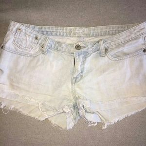 Guess denim frayed shorts