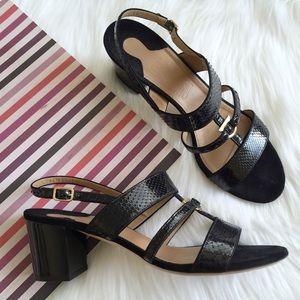 Ferragamo Shoes - Salvatore Ferragamo Sloan Gancini Mid Heel Sandal