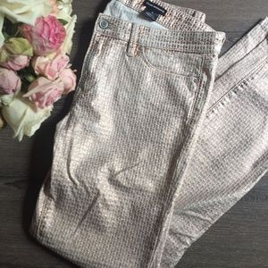 Club Monaco rose gold patterned jeans