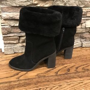 Shearling suede boots size 6 NWT
