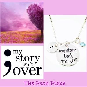Jewelry - ;My Story Isn't Over Yet Silver Necklace