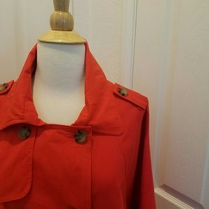 Anthropologie Jackets & Blazers - Red trenchcoat cape