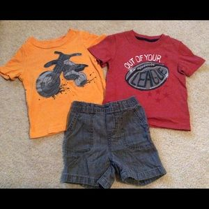 Circo/Cherokee Other - Bundle 2 shirts with matching short.