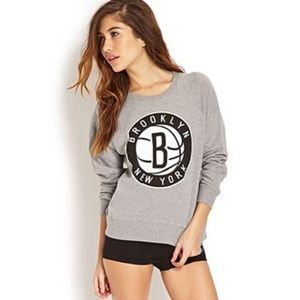 Forever21 NBA Collection Brooklyn Nets Sweatshirt