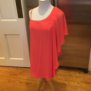 Filtre Dresses & Skirts - NWOT Filtre Peach Sheer Salmon Line 2Way Minidress