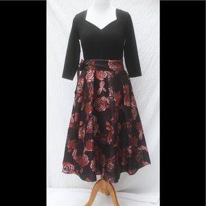 eshakti Dresses & Skirts - New Eshakti Fit & Flare Rose Midi Dress 18W