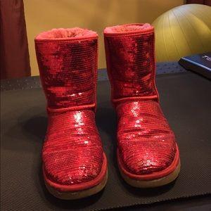 UGG red sparkley