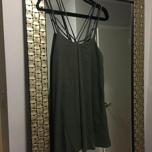 *REDUCED* Olive baby doll strappy dress