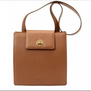Bulgari Handbags - Bvlgari brown shoulder bag tote purse bulgari