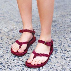 Teva Shoes - NWOB maroon suede braided  teva