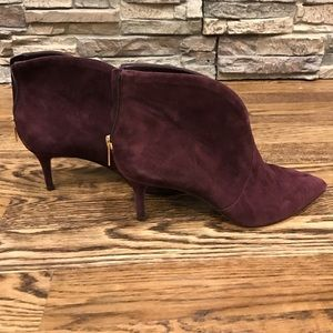 Suede booties NWT size 6