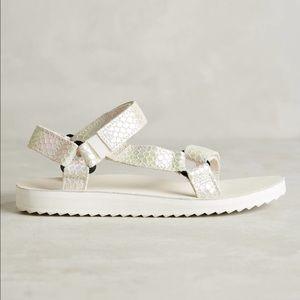 Teva Shoes - NWOB White original universal iridescent teva