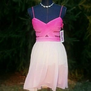 Hailey Logan Dresses & Skirts - NEW ADRIANNA PAPELL 7/8 Pink Prom Formal  Dress