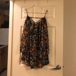 olivaceous Dresses & Skirts - Cold shoulder shift dress