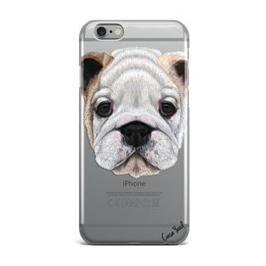 Case Yard Accessories - NEW CLEAR IPHONE CASE WITH FRENCH BULL DOG DESIGN