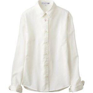 Uniqlo Tops - UNIQLO IDLF Cotton Shirt White