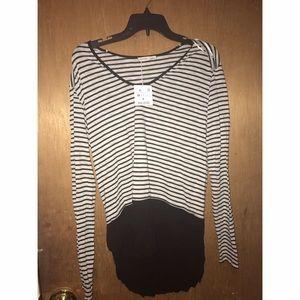NWT!! Zara B/W striped long sleeve top