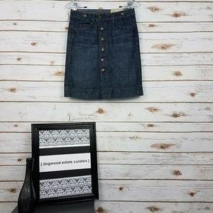 {GAP} Vintage 1969 Button Down Jean/Denim Skirt-0