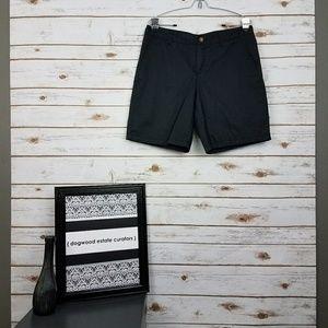 Merona Pants - {Merona} Black Cotton Bermuda Shorts Size 10