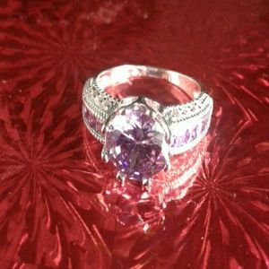 Sterling Silver 925 Amethyst Purple Ring 7 8 9