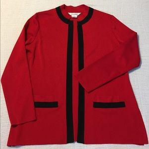 Misook Jackets & Blazers - Exclusively Misook red acrylic jacket cardigan