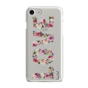 Case Yard Accessories - NEW CLEAR IPHONE CASE WITH LOVE FLOWER DESIGN