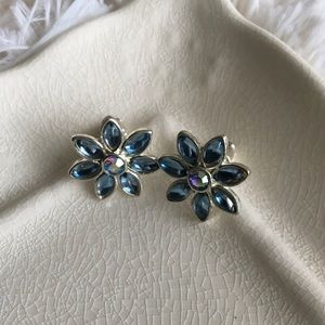 "Bedecked & Bedazzled Jewelry - ""Daisy"" Blue Crystal Earrings FINAL PRICE"