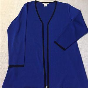 Misook Jackets & Blazers - Exclusively Misook blue acrylic jacket cardigan
