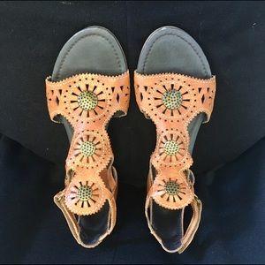 PIKOLINOS Shoes - Pikolinos Boho Hippie Medallion Flower Sandals