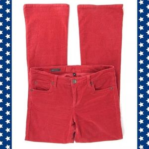 Kut from the Kloth Denim - Kut Farrah Baby Boot Cut Red Corduroy Jeans Sz 8