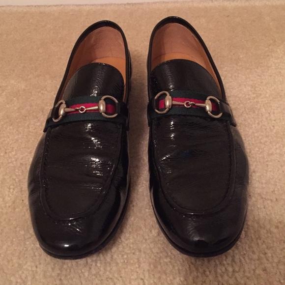 b392b34fbcc Gucci Shoes - Gucci Loafers Brixton patent black 7 (eu 37)