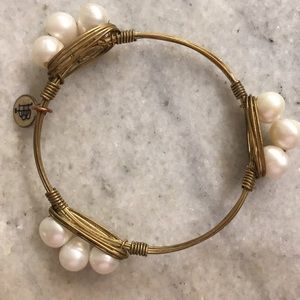 Bourbon and Boweties pearl bangle