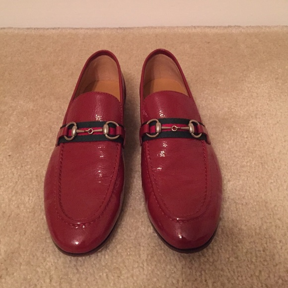 ba893b3ea22 Gucci Shoes - Gucci Loafers 7 (eu 37) patent red