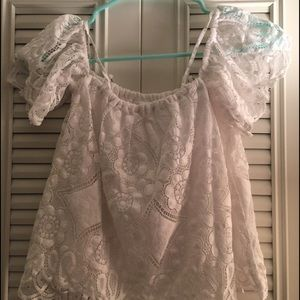 NWT Abercrombie & Fitch Lace Off the Shoulder Top