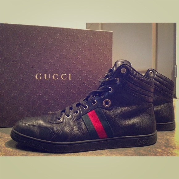 gucci high top sneakers black