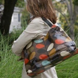 Orla Keily Handbags - Orla Kiley dark multi stem Holdall Tote