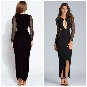 Dresses & Skirts - Sexy Maxi With Key Hole Front And Long Knitted Sle