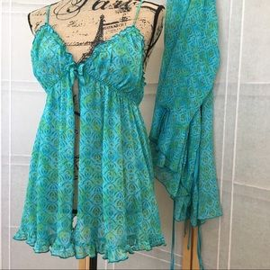 """Other - """"When the Night Calls"""" Nightgown & Robe"""