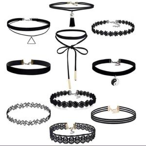 Jewelry - 🆕Set of 10 necklace chokers