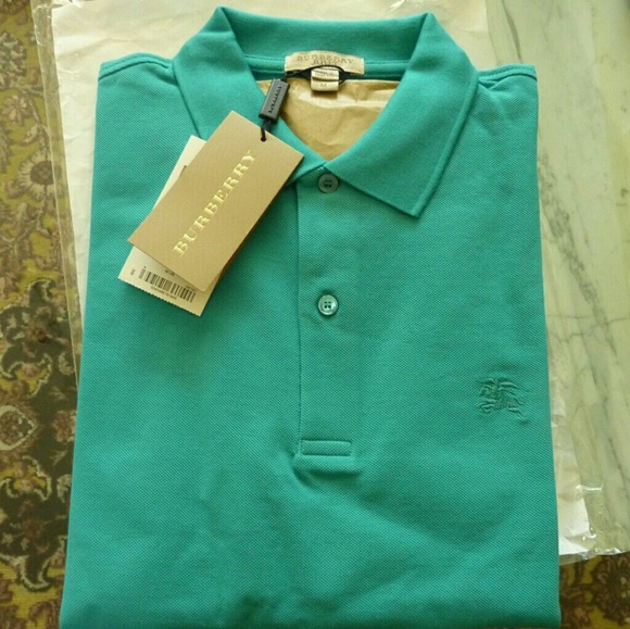 Burberry Shirts   175 Brit Mens Medium Pique Polo Shirt   Poshmark 7ef741ea06b2