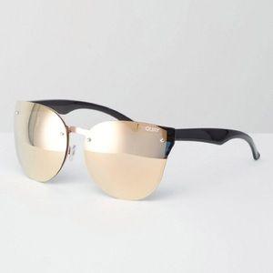 Quay Higher Love Rose Gold Mirror Sunglasses